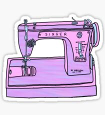 purple singer sewing machine Sticker