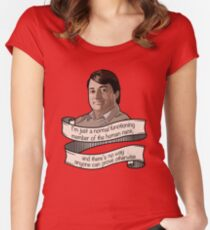"""Peep Show """"Mark Corrigan"""" Women's Fitted Scoop T-Shirt"""