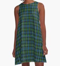 01874 Campbell of Argyll #2 Clan/Family Tartan  A-Line Dress