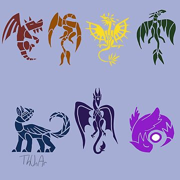 7 Chakra Dragons by Thunar