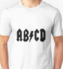 AB/CD Black Unisex T-Shirt