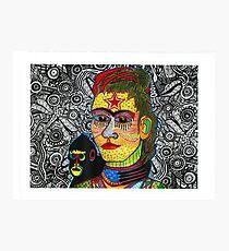 Frida Kahlo with Monkey Photographic Print