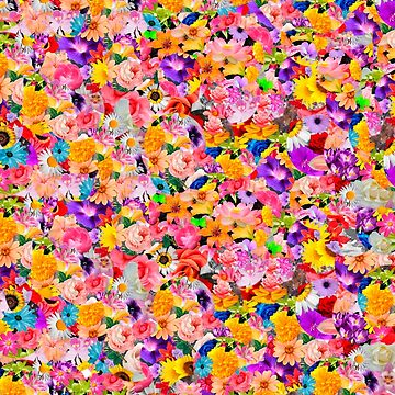 Rainbow Flower Pattern by whatemma