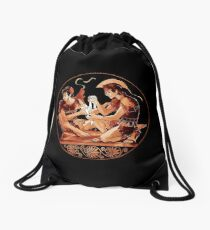 Achilles & Patroclus Red Figure Drawstring Bag