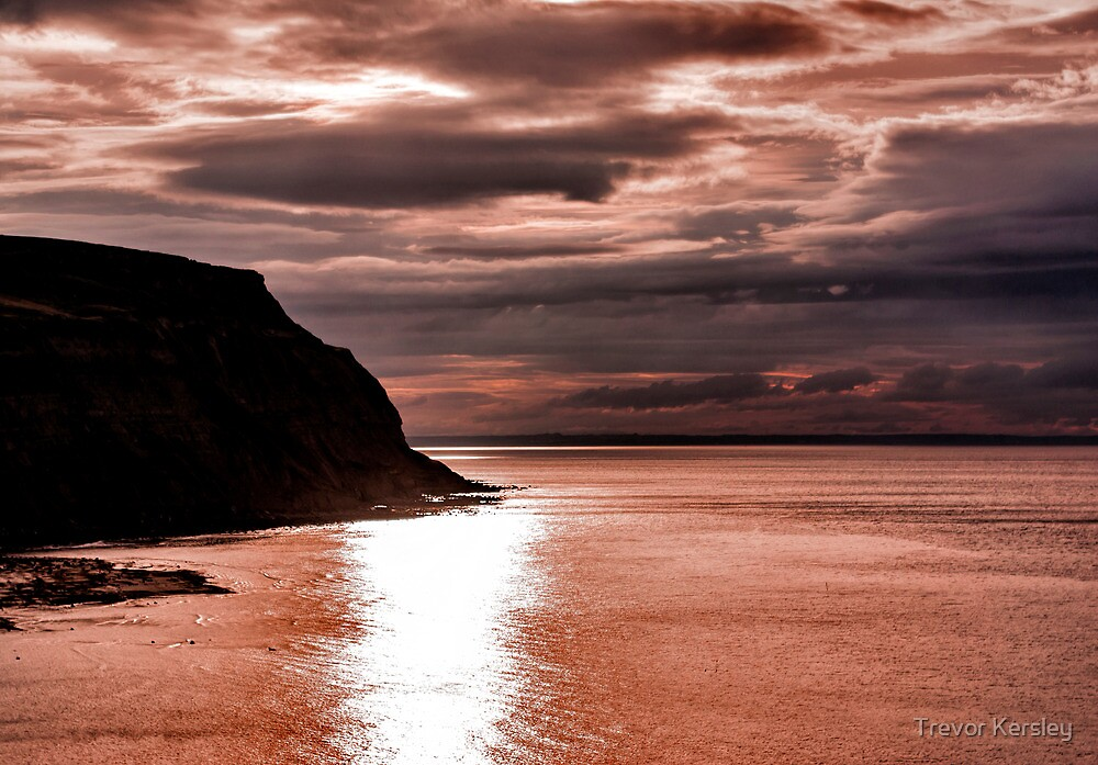 North Sea Sunset by Trevor Kersley