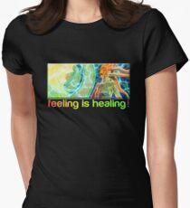 feeling is healing! (ureka.org) Women's Fitted T-Shirt