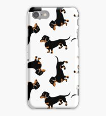 Black and Tan Dachshunds iPhone Case/Skin