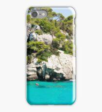 Cala Macarella bay, Island of Menorca, Balearic Islands, Spain iPhone Case/Skin