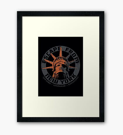 Escape from New York Snake Plissken Framed Print