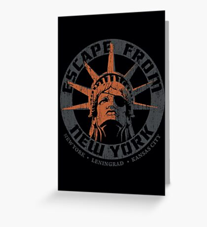 Escape from New York Snake Plissken Greeting Card