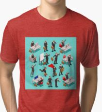 Businessman Leader Isometric Tri-blend T-Shirt