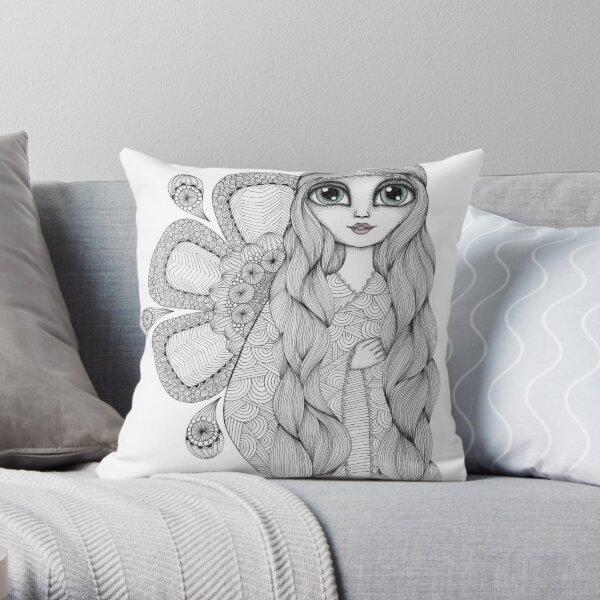 Sunshine Girl Throw Pillow