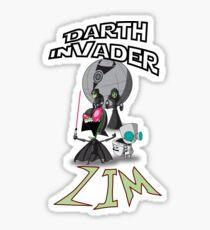 Darth InVader ZIM! Sticker