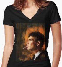 Tommy Shelby Women's Fitted V-Neck T-Shirt