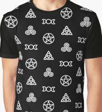 Wiccan Symbols Graphic T-Shirt