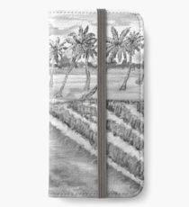 Monsoon at Field View - Kerala 5 iPhone Wallet/Case/Skin