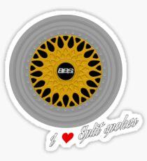 BBS RS / I heart Split Spokes Sticker