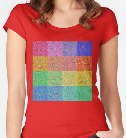 Deep Dreaming of a Color World Women's Fitted Scoop T-Shirt