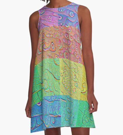 Deep Dreaming of a Color World A-Line Dress