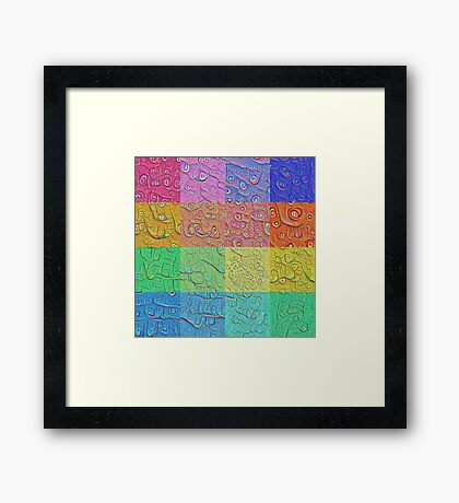 Deep Dreaming of a Color World Framed Print