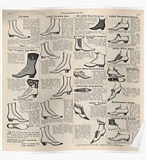 Vintage Shoes News Advertising Victorian Country  Poster