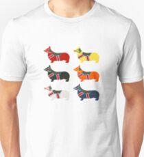 Dala Corgis - Schwedisches Dalapferd Unisex T-Shirt
