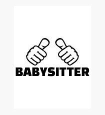 Babysitter Photographic Print
