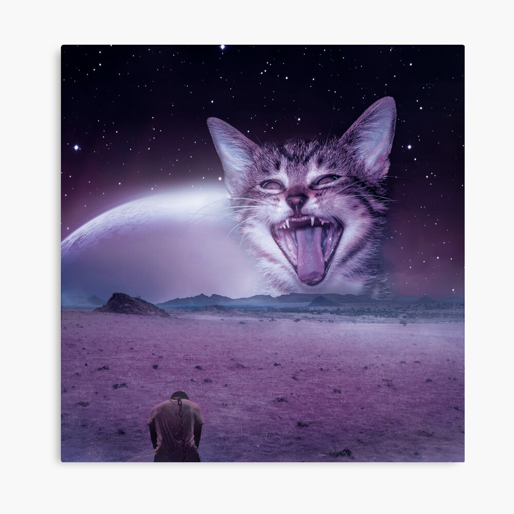 Planet Of The Cats Canvas Print