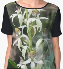 Small Orchids Women's Chiffon Top