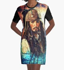 He's A Pirate Graphic T-Shirt Dress