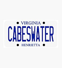 Cabeswater License Plate Photographic Print