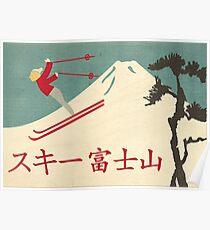 Ski Fujisan (Berg Fuji, Japan) Poster