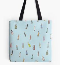 Jane Austen Characters - blue Tote Bag