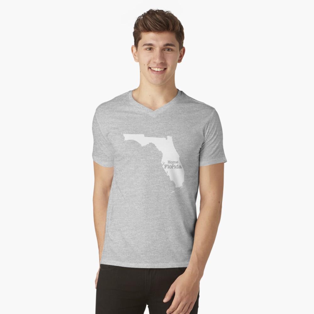 Home is Florida V-Neck T-Shirt