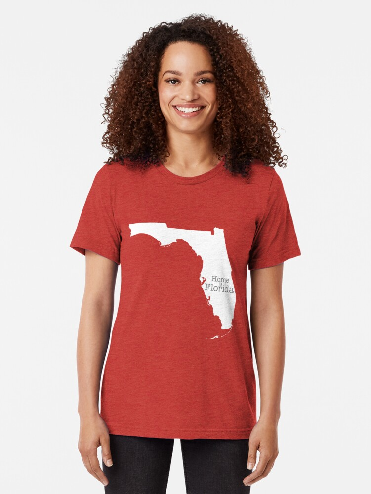 Alternate view of Home is Florida Tri-blend T-Shirt