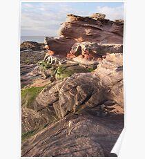 Sandstone Rock formations - Scotland's East Coast Poster