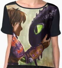How to Train Your Dragon - Hiccup and Toothless Chiffon Top