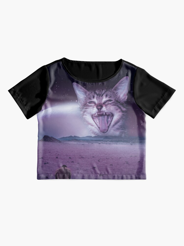 Alternate view of Planet Of The Cats Chiffon Top