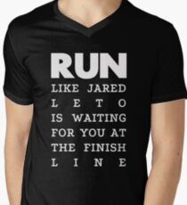 RUN - Jared Leto 2 Men's V-Neck T-Shirt