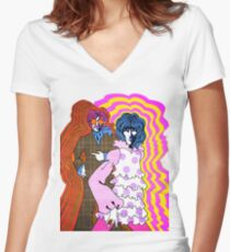 Groovy Boosh Women's Fitted V-Neck T-Shirt