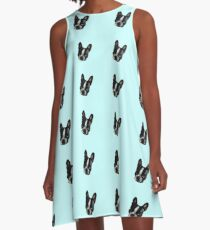 French bulldog, Vincent the frenchie - cutiepie A-Line Dress