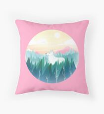 Protector of the pines  Throw Pillow