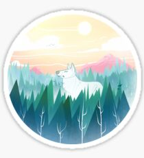 Protector of the pines  Glossy Sticker