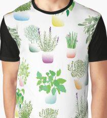 Herb Garden pattern Graphic T-Shirt