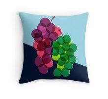 Retro Grapes Throw Pillow