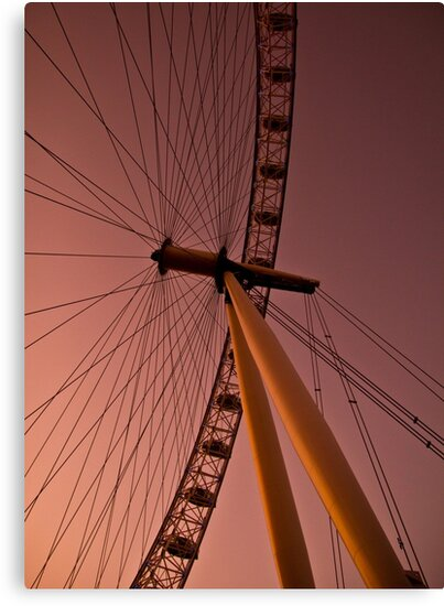 Evening by the London eye by jamesnphoto