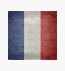 Flag of France, vintage retro style Scarf