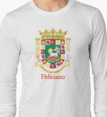Feliciano Shield of Puerto Rico Long Sleeve T-Shirt