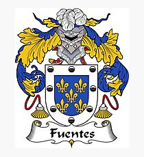 Fuentes Coat of Arms/Family Crest Photographic Print