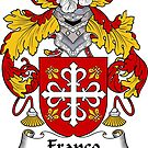 Franco Coat of Arms/ Franco Family Crest by William Martin